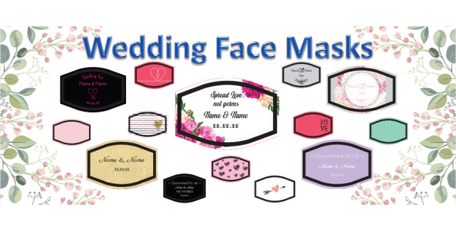 Wedding Face Masks