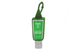 1 Oz. Sanitizer in Trapezoid Bottle & Sleeve